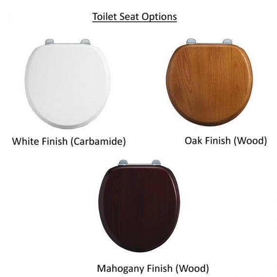 Burlington Regal Close Coupled Toilet With Front Button toilet seat option