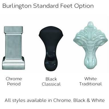 Burlington Avantgarde Back To Wall Freestanding Bath & Feet - Image 6