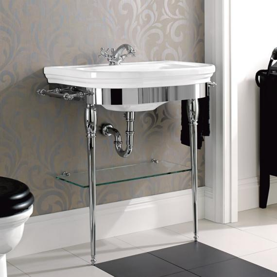 Imperial Carlyon Large Basin Stand With Glass Shelf