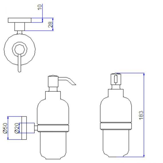 Crosswater Central Soap Dispenser Specification