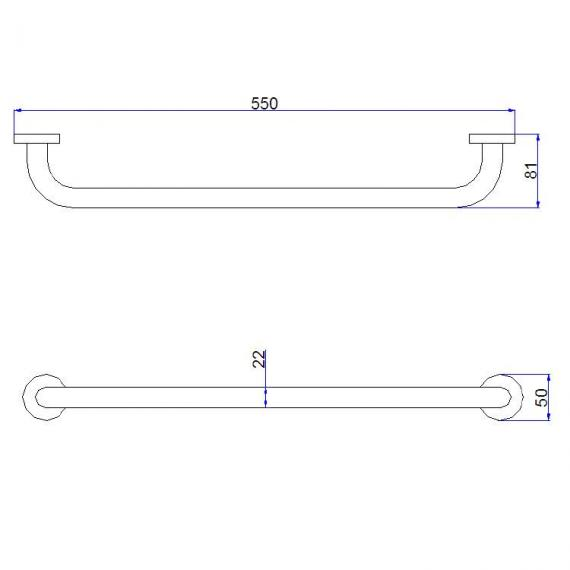 Crosswater Central Small Towel Rail Specification