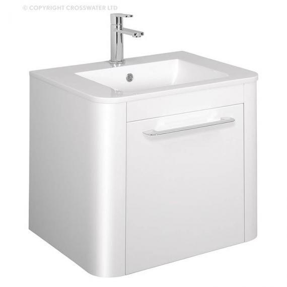 Bauhaus Celeste 600mm White Gloss Vanity Unit & Ceramic Basin