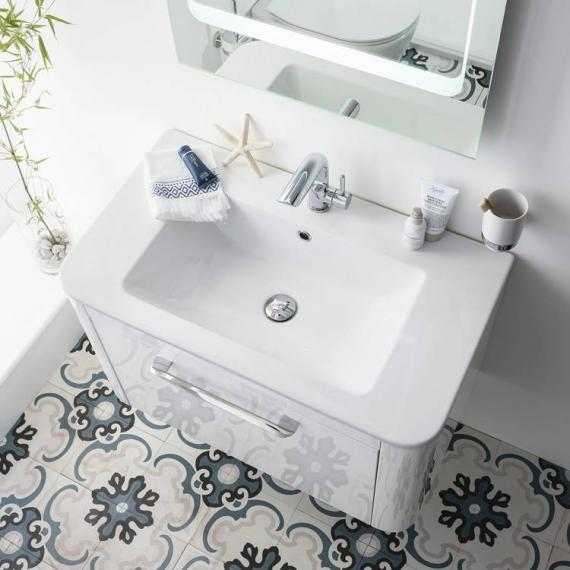 Bauhaus Celeste 800mm White Gloss Vanity Unit & Ceramic Basin