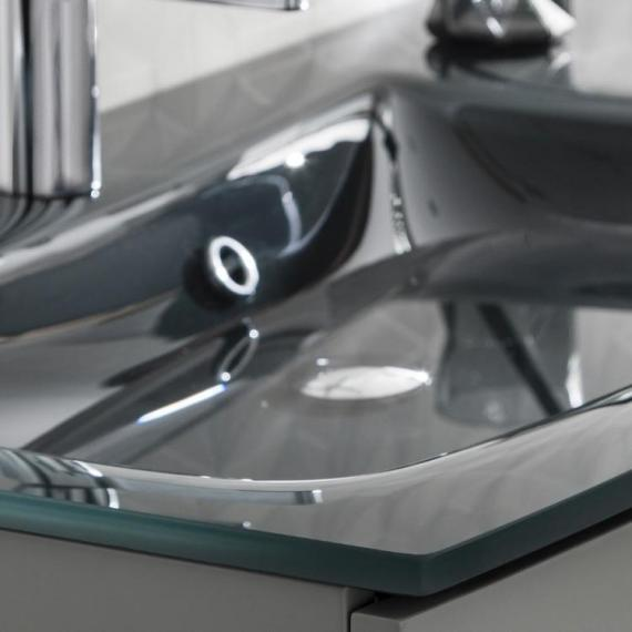 Bauhaus Svelte Charcoal Glass Basin