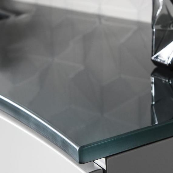 Bauhaus Svelte Charcoal Glass Basin Detail