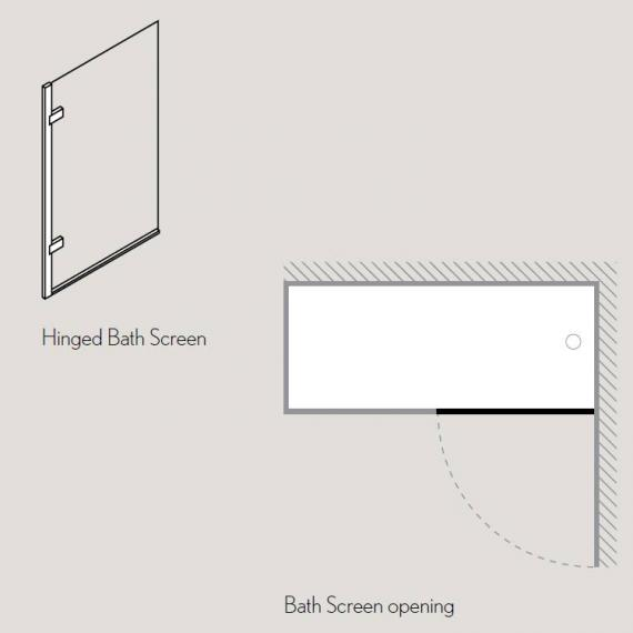 Simpsons Classic Hinged Bath Screen Specification