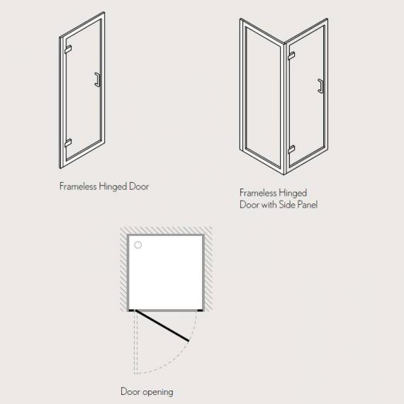 Simpsons Classic Hinged Shower Door Specification