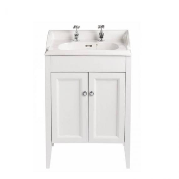 Heritage Caversham White Ash Vanity Unit & Dorchester Square Basin