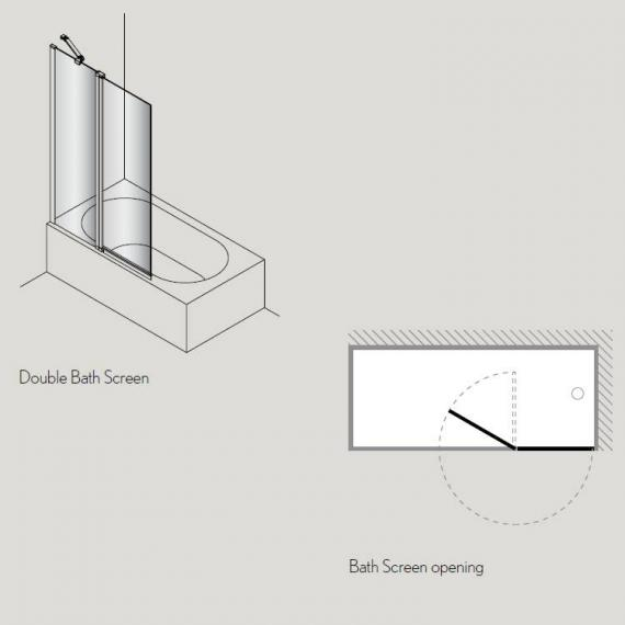 Simpsons Click Double Bath Screen Specification