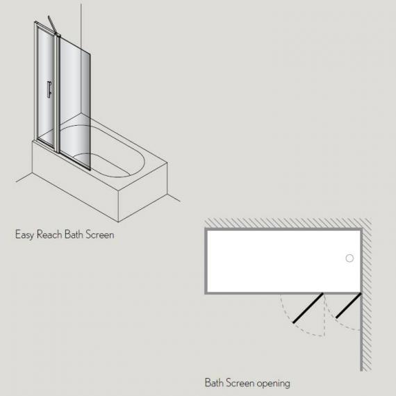 Simpsons Click Easy Reach Bath Screen Specification