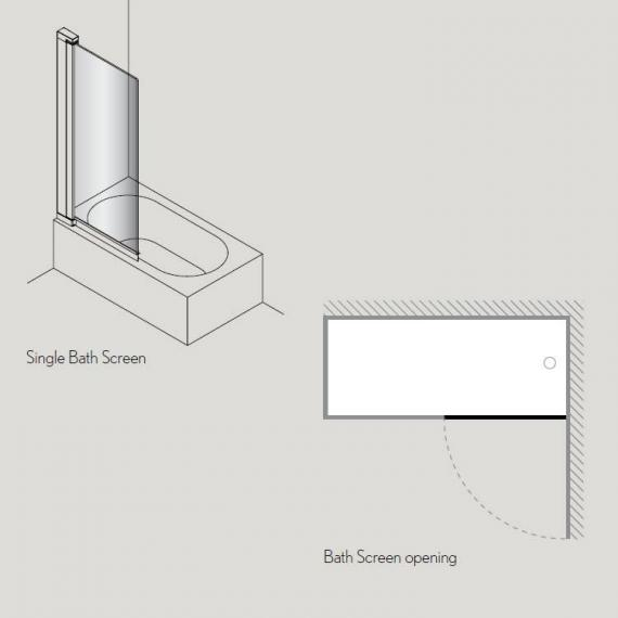 Simpsons Click Single Bath Screen Specification