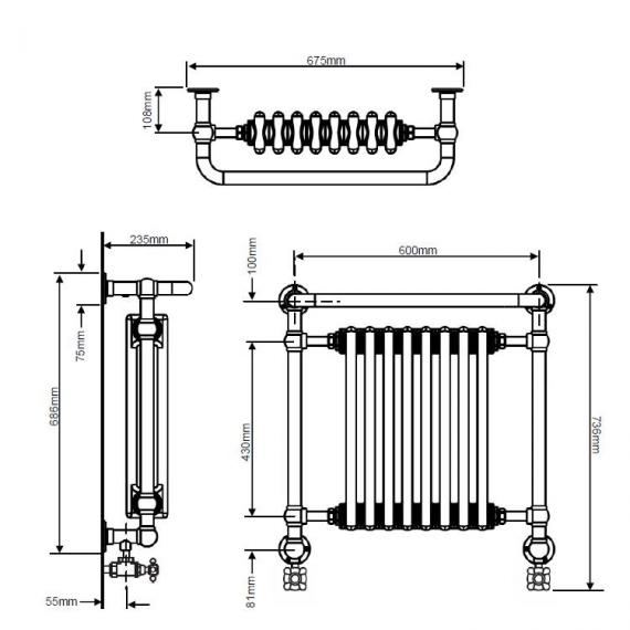 Heritage Clifton Wall Hung Radiator Specification