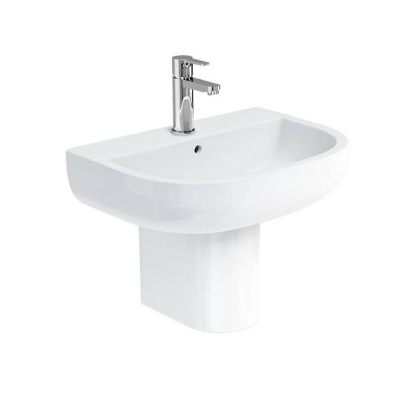 Britton Compact 550mm Basin & Round Fronted Semi Pedestal