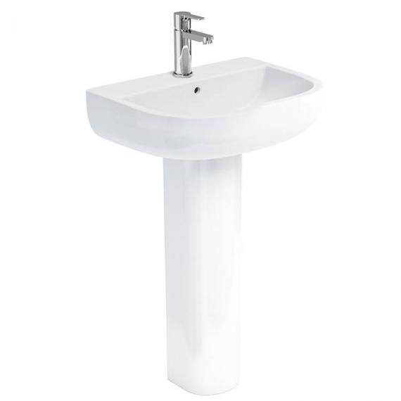 Britton Compact 550mm Basin & Round Fronted Pedestal