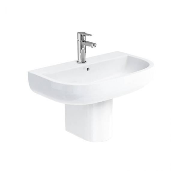 Britton Compact 650mm Basin & Round Fronted Semi Pedestal
