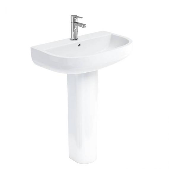 Britton Compact 650mm Basin & Round Fronted Pedestal