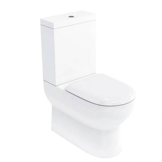 Britton Compact Back To Wall Close Coupled WC, Cistern & Seat - Image 2