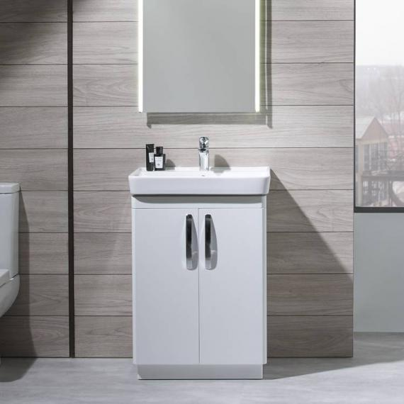 Tavistock Compass White Gloss 600mm Freestanding Unit & Basin