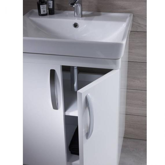 Tavistock Compass White Gloss 600mm Freestanding Unit & Basin - Image 3