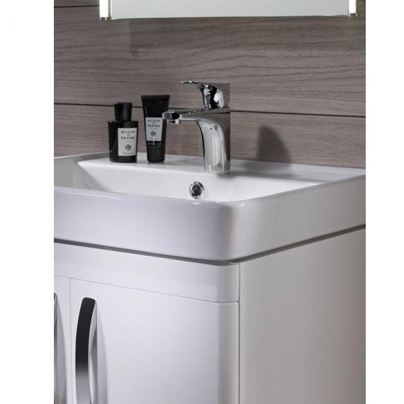 Tavistock Compass White Gloss 600mm Freestanding Unit & Basin - Image 5