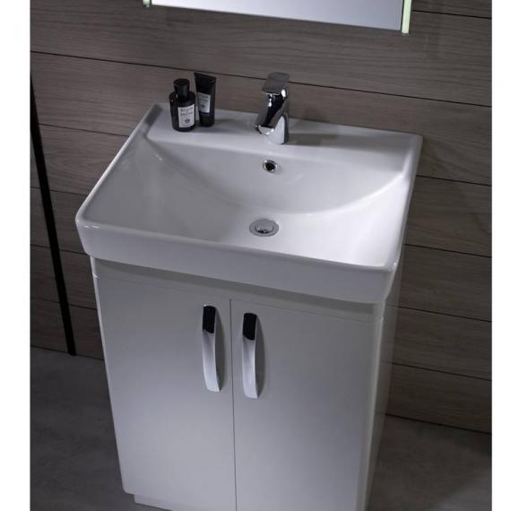 Tavistock Compass White Gloss 600mm Freestanding Unit & Basin - Image 2