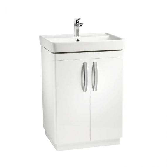 Tavistock Compass White Gloss 600mm Freestanding Unit & Basin - Image 6