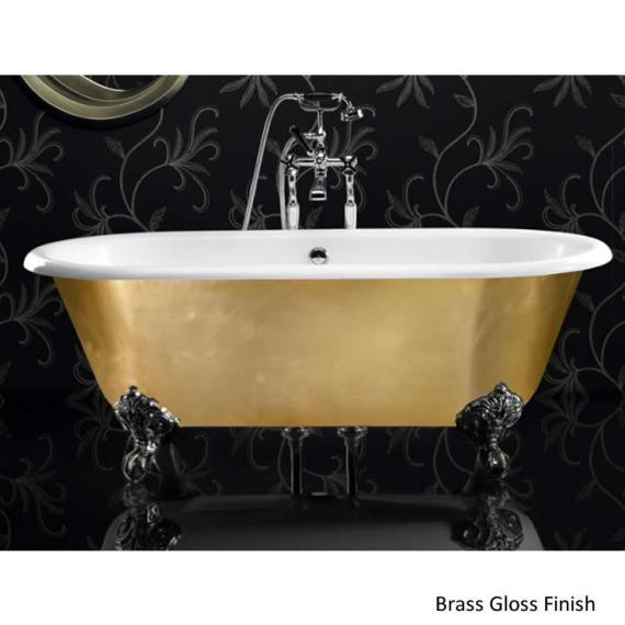 Ashton and Bentley Corinthian Metallic Freestanding Bath | Platinum Gloss - Image 2