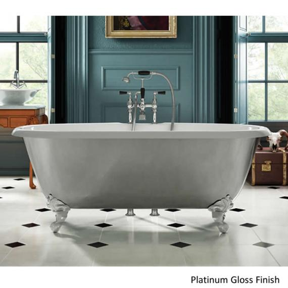 Ashton and Bentley Corinthian Metallic Freestanding Bath - Platinum