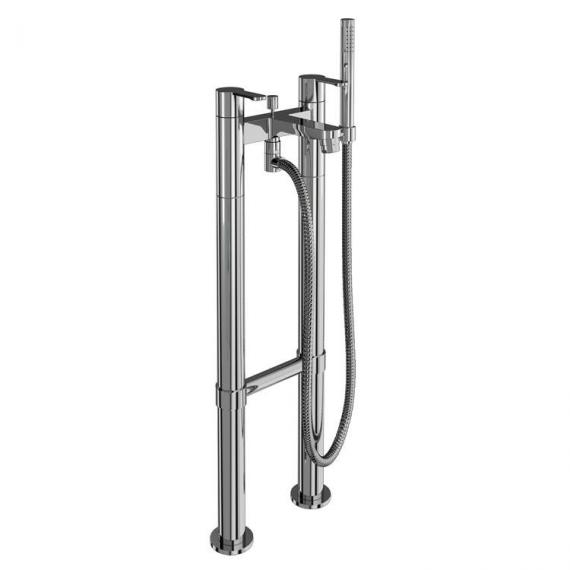 Crystal Bath Shower Mixer With Floor Mounted Legs