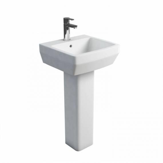 Britton Cube 500mm Basin & Square Fronted Pedestal