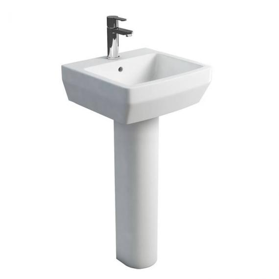 Britton Cube 500mm Basin & Round Fronted Pedestal