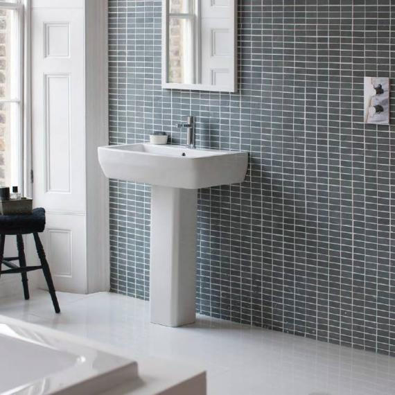 Britton Cube 600mm Basin & Square Fronted Pedestal