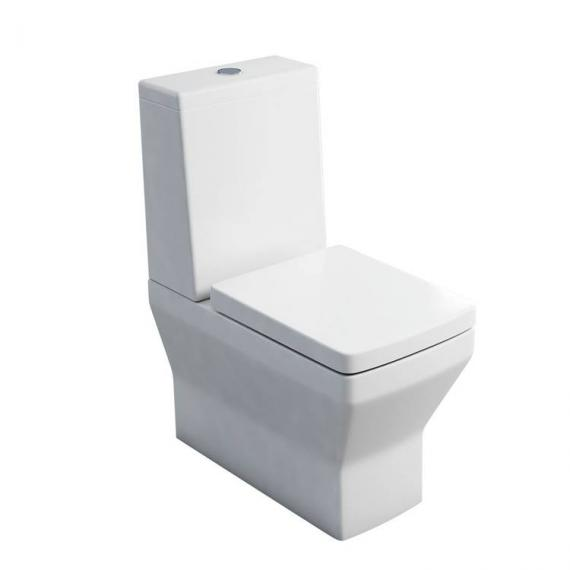 Britton Cube Close Coupled WC, Cistern & Soft Close Seat