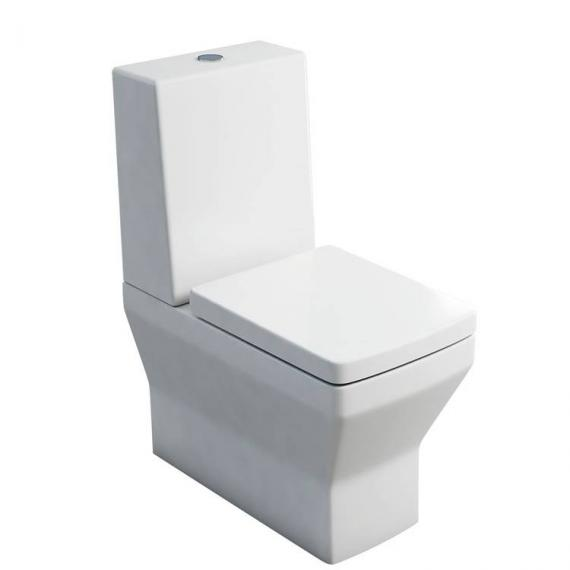 Britton Cube Close Coupled WC, One Piece Cistern & Soft Close Seat