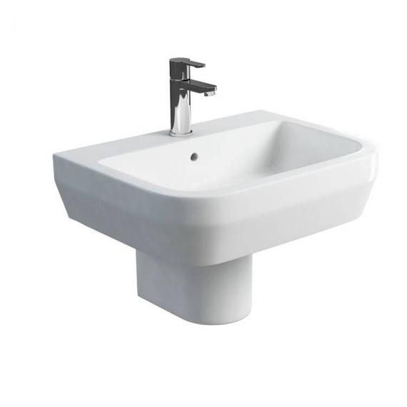 Britton Curve 600mm Basin & Round Fronted Semi Pedestal