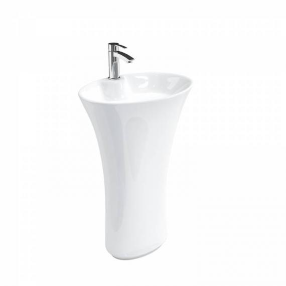 Britton Curve Freestanding Basin With Pedestal - Image 3