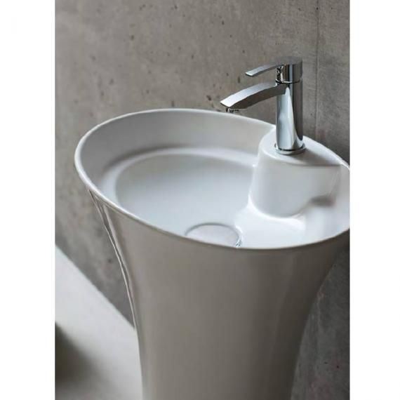 Britton Curve Freestanding Basin With Pedestal - Image 2