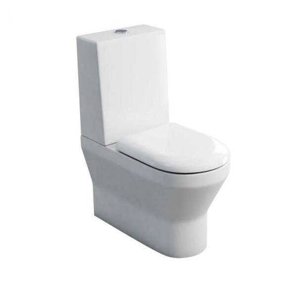 Britton Curve Back To Wall Close Coupled WC, Cistern & Soft Close Seat