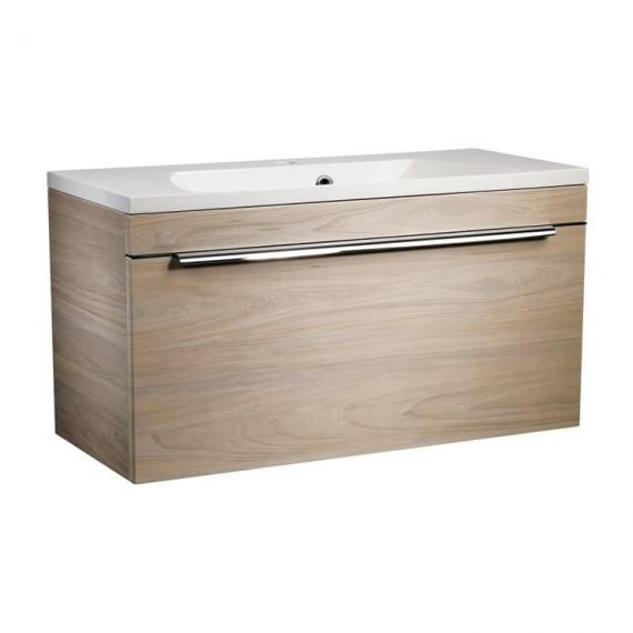 Roper Rhodes Cypher 800mm Light Elm Wall Mounted Unit & Basin - Image 4