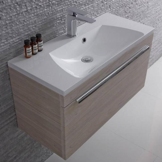 Roper Rhodes Cypher 800mm Light Elm Wall Mounted Unit & Basin