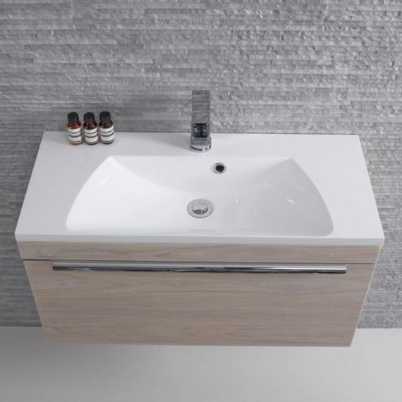 Roper Rhodes Cypher 800mm Light Elm Wall Mounted Unit & Basin - Image 2