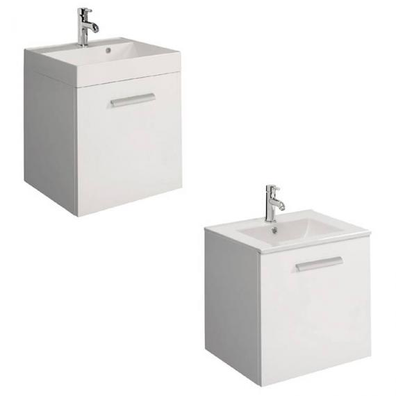 Bauhaus Design Plus 50 Drawer White Gloss Vanity Unit & Basin