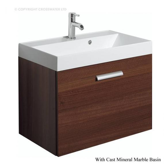 Bauhaus Design Plus 70 Drawer Walnut Vanity Unit & Cast Mineral Basin