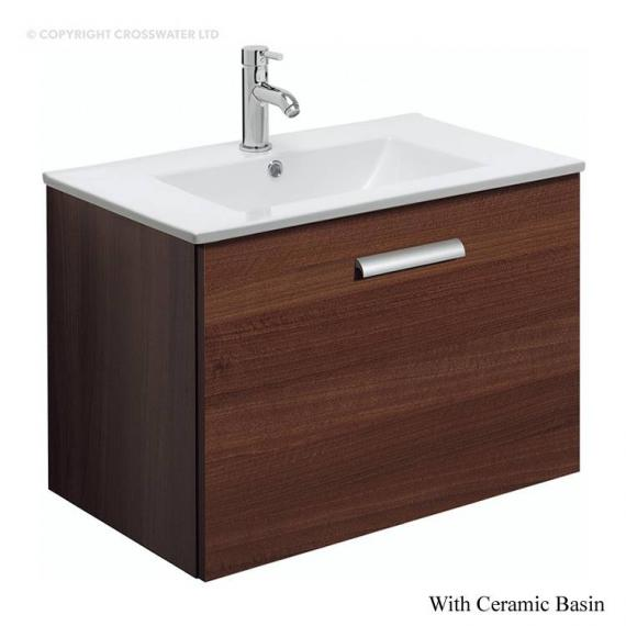 Bauhaus Design Plus 70 Drawer Walnut Vanity Unit & Ceramic Basin