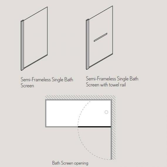 Simpsons Design Single Bath Screen Specification