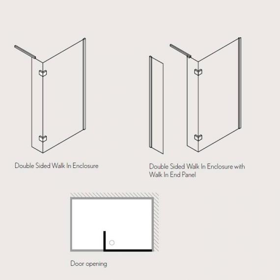 Simpsons Design 1400 x 900mm Walk In Shower Enclosure Specification