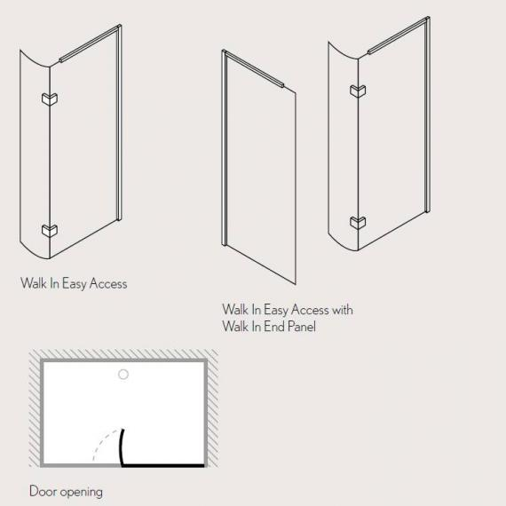 Simpsons Design Walk In Easy Access Shower Enclosure Specification