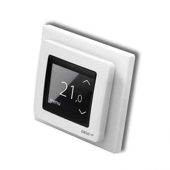 Devi Reg Touch Pure White Programmable Thermostat