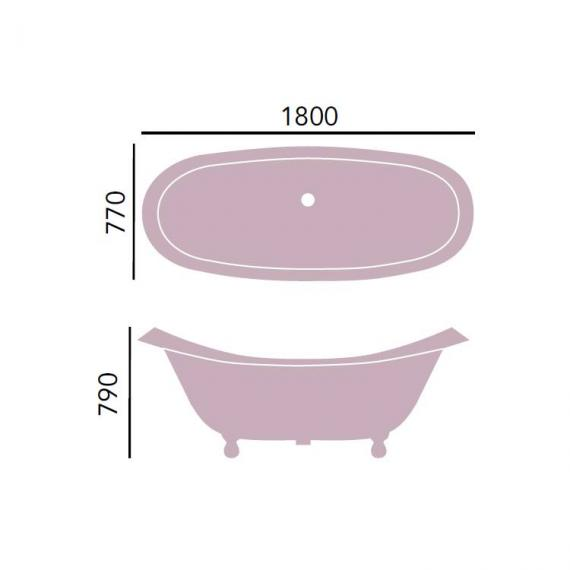 Heritage Devon Bath Cast Iron Double Ended Slipper Freestanding Bath Specification