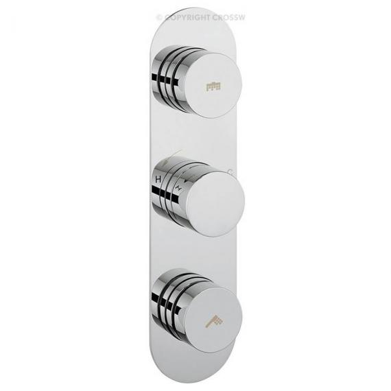 Crosswater Dial Portrait Shower Valve 2 Control With Central Trim